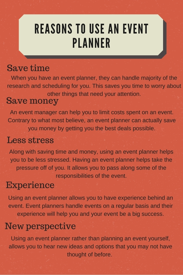 Reasons to use an event planner